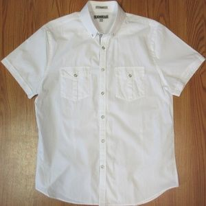 EXPRESS FITTED Mens 100% COTTON POINT COLLAR SHIRT
